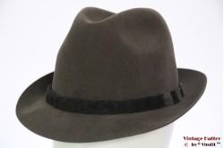 Fedora Wegener grey brushed felt 57