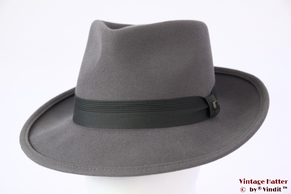 Fedora Brixton Swindle IV grey felt 58,5 (M) [New Sample]