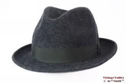 Fedora Merino Extra grey woolfelt 56