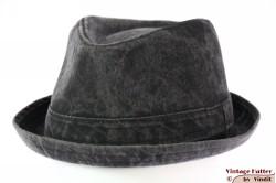 Trilby-like porkpie Hawkins grey black stonewashed jeans 60 [new]