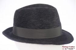 Fedora Oybin Luckenwalde dark grey fur felt 56,5