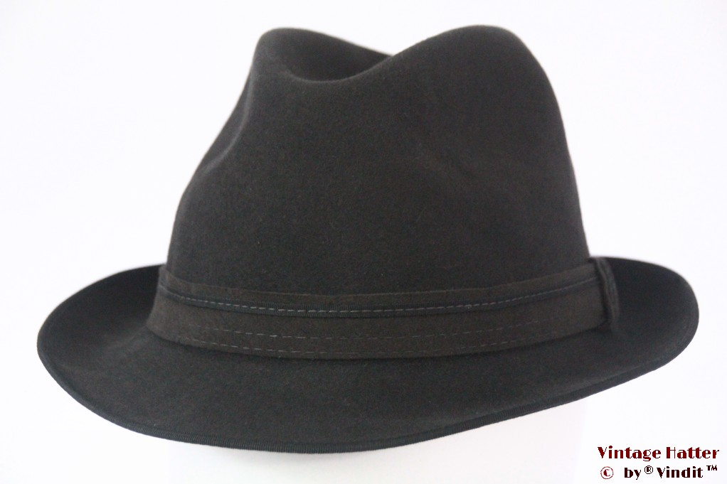 Fedora Rockel Luxus Quality dark grey felt 56
