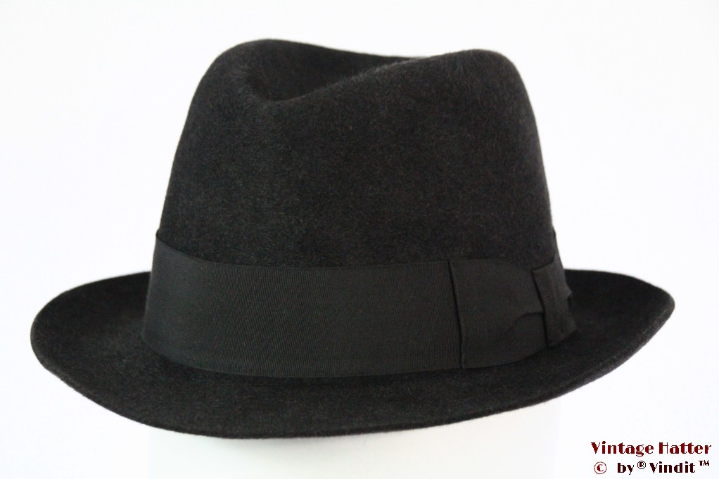 Fedora Lumachini blackish grey felt 56