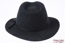 Fedora Brixton Coleman dark grey wool felt 59 [New Sample]