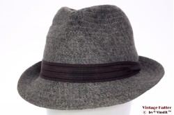 Trilby Indeformabile grey with brown band 57,5