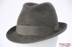Fedora Haarfilz grey fur felt 57