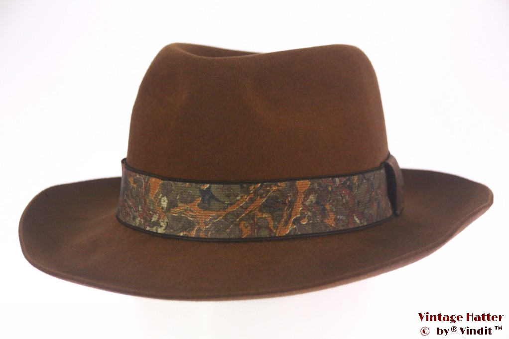 Fedora Luxor orange brown felt 58