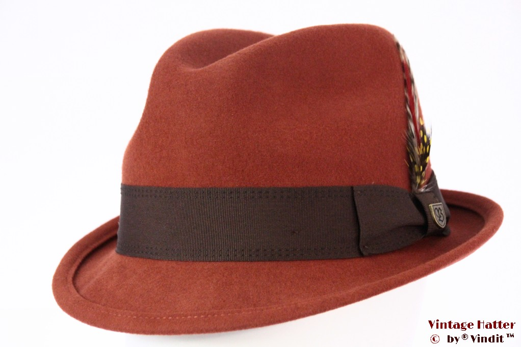 Brixton Gain fedora picante (red brown) 58 (M) [New Sample]