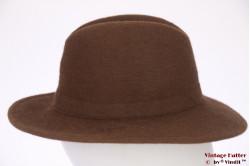 Fedora Arezzini brown fur felt 54,5 (XS)