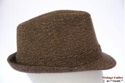 Trilby Hawkins tweed-style brown 59 [new]