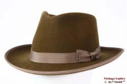 Outdoor fedora Brixton Norfolk Reserve 'coffee' greenish brown felt 58 [New Sample]