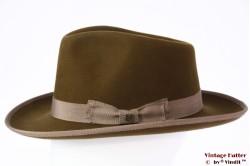 Outdoor fedora Brixton Norfolk Reserve 'coffee' greenish brown felt 58 [New Sample]