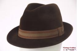 Fedora Mayser-Milz brown velour 56