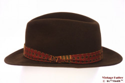 Fedora J. Lambs brown felt with design band 57