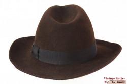 Fedora Wegener brown felt 54 (XS)