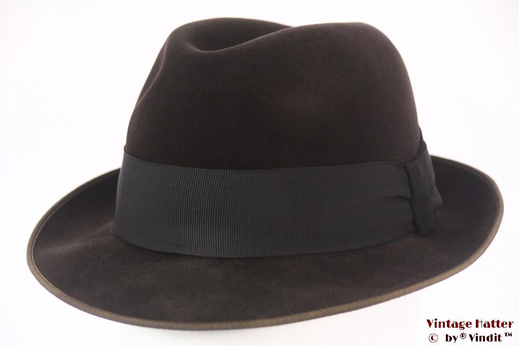 Fedora Rockel Chamois dark brown velour 55,5 (S)