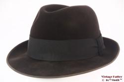 Gleufhoed Rockel Chamois donker bruin velour 55,5 (S)