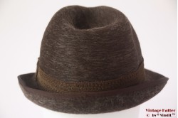 Fedora Prylett brown fur felt 56