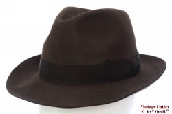 Fedora Wegener dark brown 55 (S)