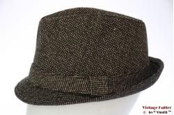 Trilby Hawkins tweed-style brown black 60 [new]