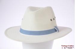 Panama-style wide fedora Hawkins white 61 (XXL) [new]