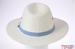 Panama-style wide fedora Hawkins white 59 [new]