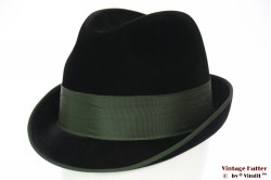 Hunting fedora Wegener black velour green band 56