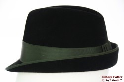 Hunting fedora Wegener black velour green band 56