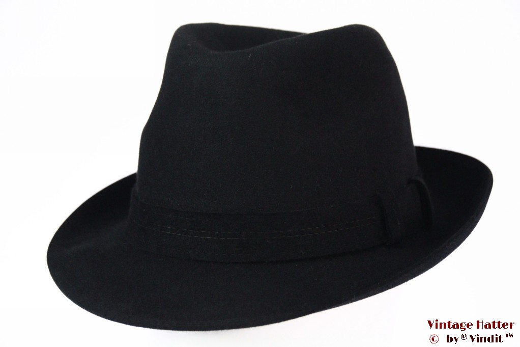 Fedora Stanton Hats black felt 58