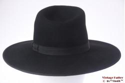 Wide Tiroler gents hat Spezial black felt 56