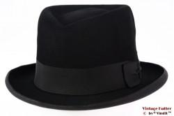 Gleufhoed Borsalino vintage zwart vilt 57