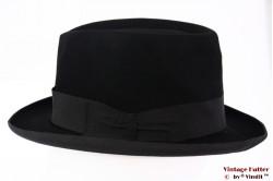 Fedora Borsalino vintage black felt 57
