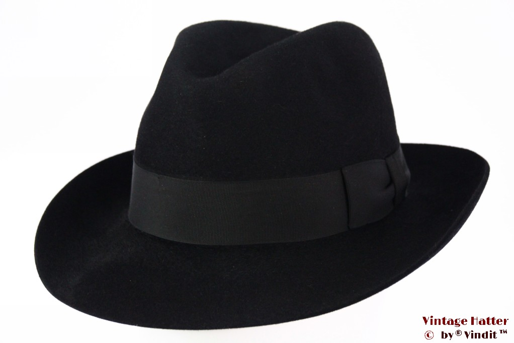 Fedora London Hat black felt 57,5
