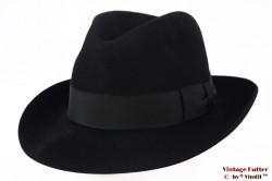 Gleufhoed London Hat zwart vilt 57,5