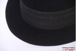 Fedora Mossant Paris black fur felt 58