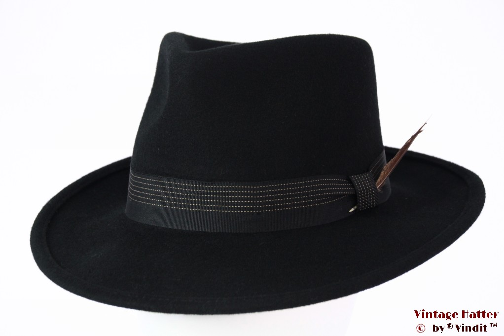 Fedora Brixton Swindle II black 58,5 (M) [New Sample]