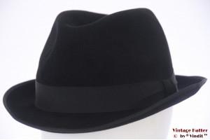 Fedora Burselon black felt 59 (L)