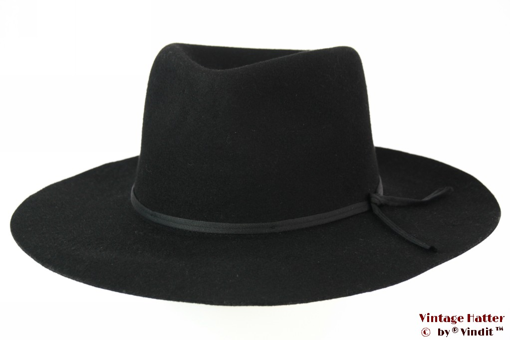 Wide brim Western / Outdoor style Brixton Topeka fedora black felt 59,5 [New Sample]