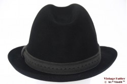 Fedora Wegener black felt 60 (XL)