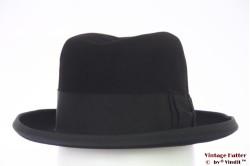 Homburg hoed Rheinhut zwart vilt 54 (XS)