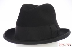 Homburg hat Prima black felt 56