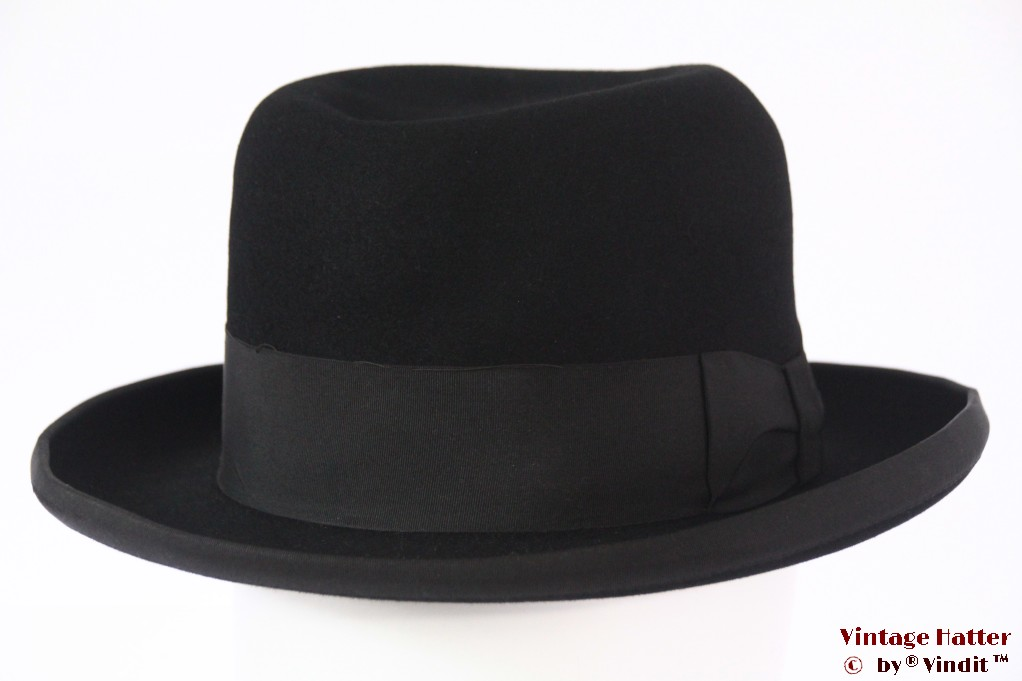 Homburg hat Golf black felt 56