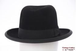 Homburg hoed Rockel zwart geborsteld vilt 57