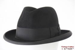 Homburg hat Wegener black felt 57
