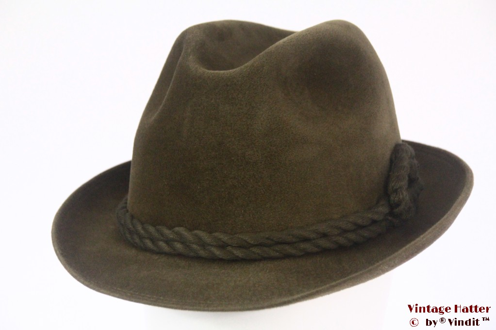 Hunting fedora Wegener green velour 58