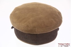 Captains cap Prinz Heinrich beige brown leather 56