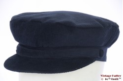 Captains cap Hawkins dark blue corduroy 58 [new]