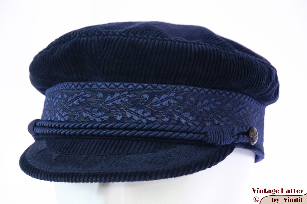 Captains cap dark blue corduroy 59