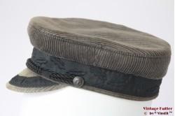 Captains cap Fiebig beige grey corduroy 55,5 (S)