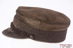 Captains cap Prinz Heinrich beige brown leather 57